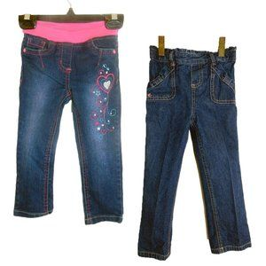 2 Pairs of Toddler Jeans Size 24 Months (2T)